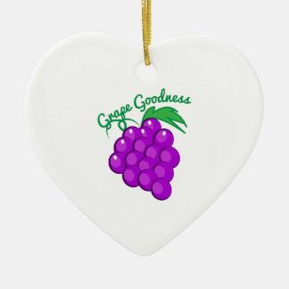 Calidad de la uva adorno de cerámica en forma de corazón