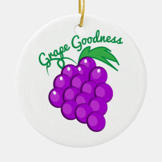 Calidad de la uva adorno redondo de cerámica