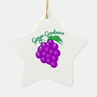 Calidad de la uva adorno de cerámica en forma de estrella
