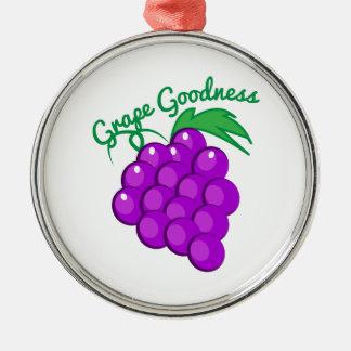 Calidad de la uva adorno redondo plateado
