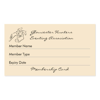 Calidad de miembro del club del eventer del tarjetas de visita