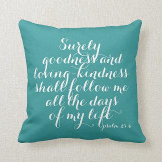 Calidad del 23:6 del salmo y almohada cariñosa de