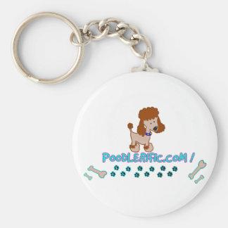 ¡Calidad del perrito de Poodlerific!! Llavero Personalizado
