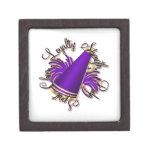 Calidades de la púrpura y del oro de la alegría cajas de regalo de calidad