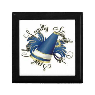 Calidades del azul y del oro de la alegría cajas de regalo