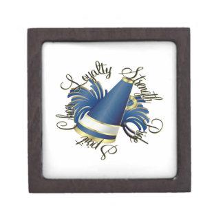 Calidades del azul y del oro de la alegría cajas de regalo de calidad