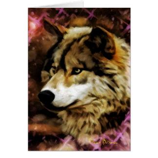 Calidades del lobo felicitación