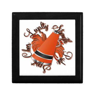 Calidades negras y anaranjadas de la alegría caja de regalo