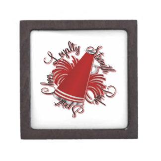 Calidades rojas y blancas de la alegría cajas de regalo de calidad