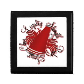 Calidades rojas y blancas de la alegría cajas de recuerdo