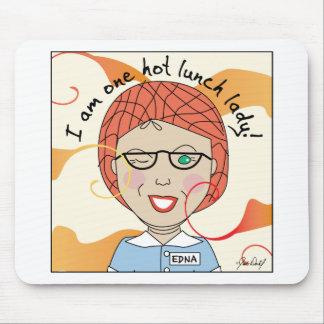 _Caliente Edna de la señora del almuerzo la señora Alfombrilla De Ratones