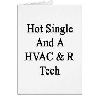 Caliente escoja y una tecnología de la HVAC R Tarjeta De Felicitación