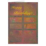Caliente la tarjeta de cumpleaños abstracta anaran