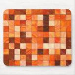 caliente las tejas coloreadas alfombrilla de ratón