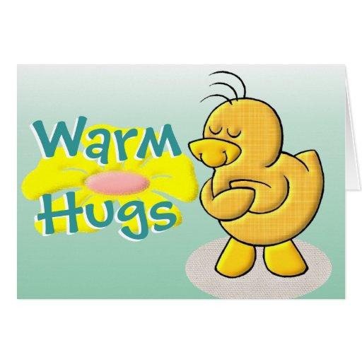 Caliente los abrazos tarjeta de felicitación