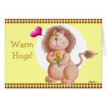 ¡Caliente los abrazos! Tarjeta De Felicitación