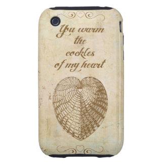 Caliente los berberechos de mi corazón tough iPhone 3 carcasa