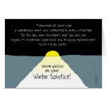 ¡Caliente los deseos en su solsticio de invierno! Tarjeta De Felicitación