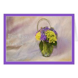 Caliente los deseos en su tarjeta de felicitación