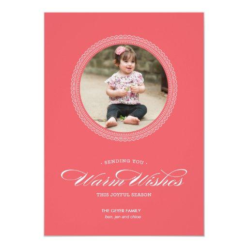 Caliente los deseos - tarjeta de felicitación del comunicado personalizado