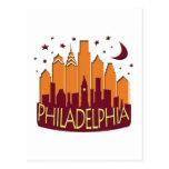 Caliente mega del horizonte de Philadelphia Postal