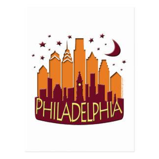 Caliente mega del horizonte de Philadelphia Postales