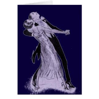Caliente para trotar baile de los pares tarjeta de felicitación