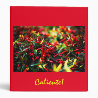 Caliente Red Hot Pepper three ring binder