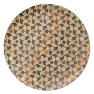 Caliente-Tonalidad del mosaico de la estrella de Plato