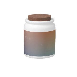 Caliente vibrante y frío abstractos jarra para caramelo