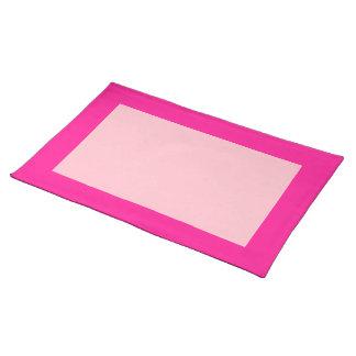 Caliente y clavel Placemat rosado Manteles Individuales