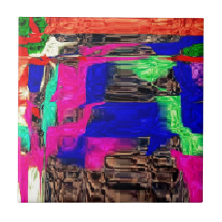 caliente y salvaje, colorido azulejo