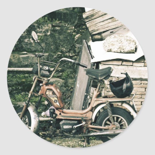 Califfo scooter in Italy Classic Round Sticker