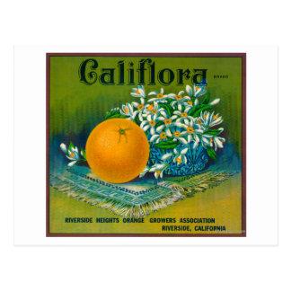 Califlora LabelRiverside anaranjado, CA Postales