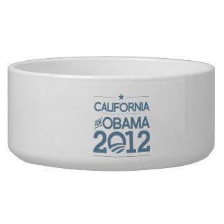 CALIFONIA FOR OBAMA 2012.png Dog Water Bowl