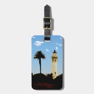 Californai Lighthouse & Palm Tree Luggage Tag