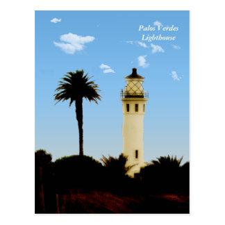 Californai Lighthouse & Palm Tree Post Card