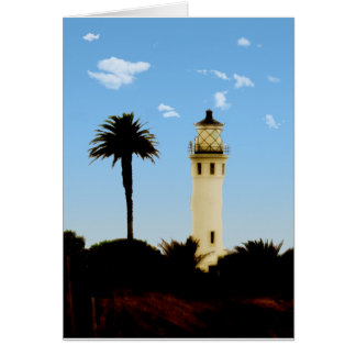 Californai Lighthouse & Palm Tree Support Card