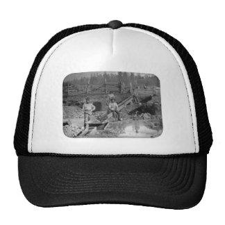 ~ California 1850 de los mineros de la fiebre del  Gorros