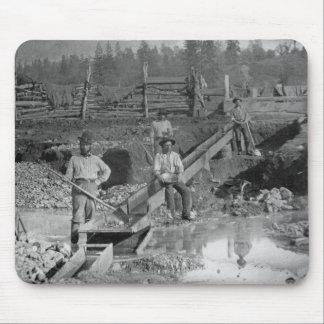 ~ California 1850 de los mineros de la fiebre del  Alfombrillas De Ratón
