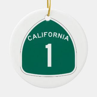 California 1 ceramic ornament
