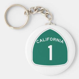 California 1 llavero redondo tipo pin
