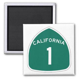 """California 1"" 2 Inch Square Magnet"