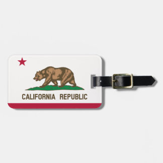 California 1of2 luggage tag