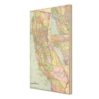 California 4 stretched canvas print
