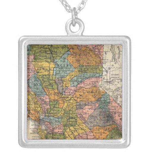California 4 square pendant necklace