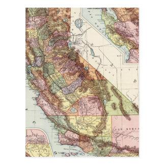 California 8 postcard