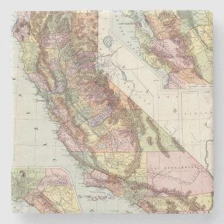 California 8 stone coaster
