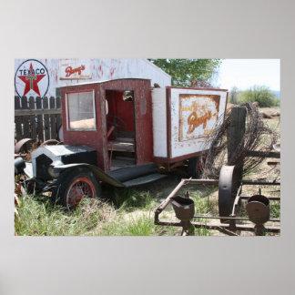 California Abandoned Barq's Truck Print