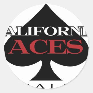 California Aces los bienes raices Etiquetas Redondas